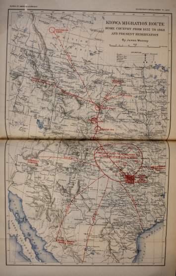 Kiowa Migration Route 1832-1868