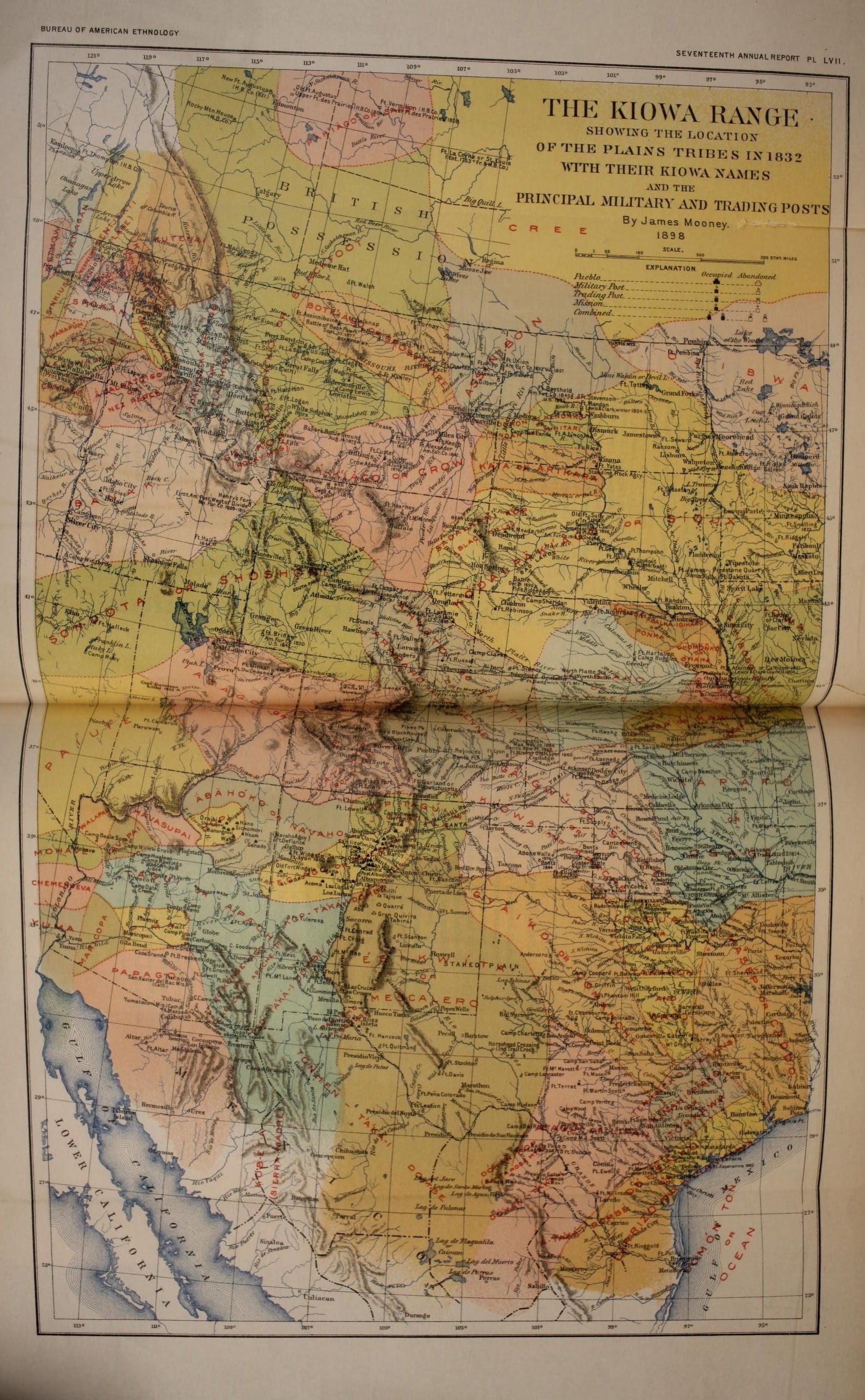 Calendar History Of The Kiowa Indians Access Genealogy