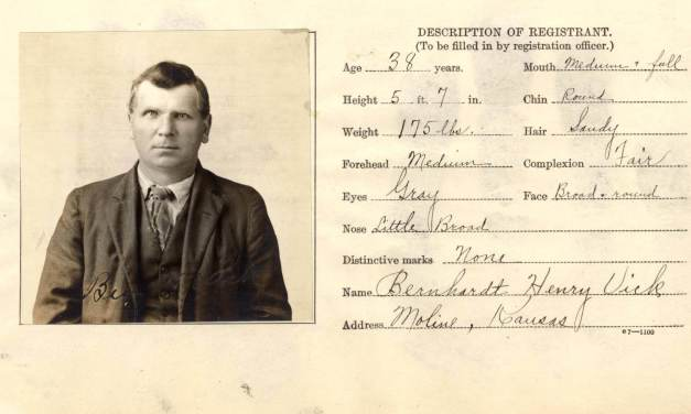 Kansas Registrations of Enemy Aliens, 1917 – 1921