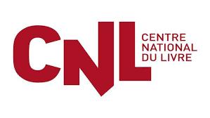 """Logo du CNL (les trois lettres """"CNL"""" en rouge avec les mots """"Centre National du Livre"""" en rouge itou."""