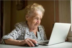 Old-woman-viewing-screen