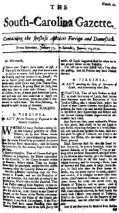 The South Carolina Gazette