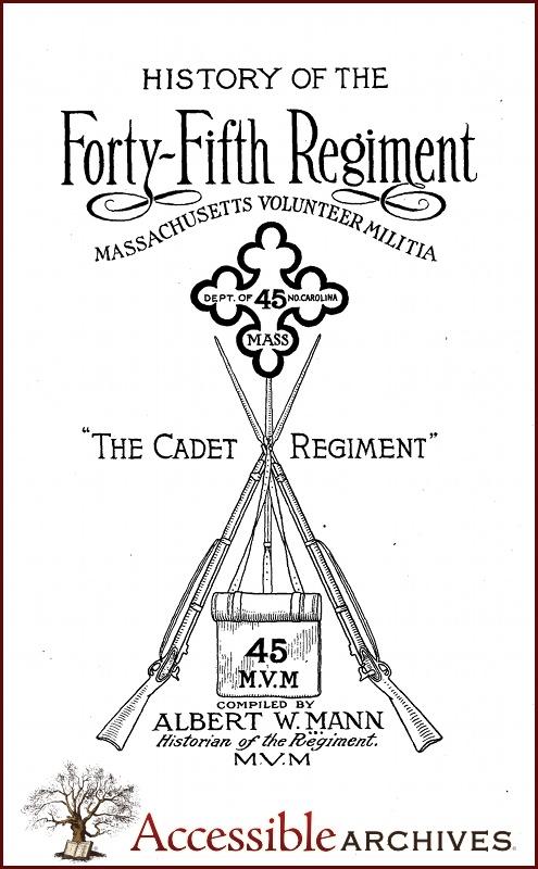 The Massachusetts 45th Volunteers Regiment's Cadet Band