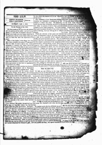 The First issue of the The Lily