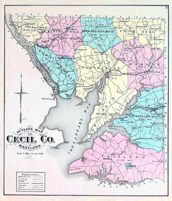 A Look Inside the History of Cecil County, Maryland Cecil County Md Map on