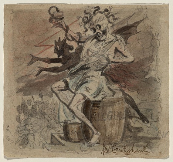 Alcohol, Death, and the Devil by Geo. Cruikshank