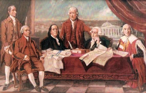 David Wagner's completion of American Artist Benjamin West's Treaty of Paris
