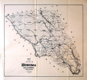 Map of Sonoma