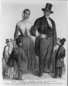 The Quaker giant and giantess. As exhibited at Barnums American museum, New York 1849