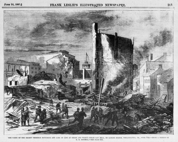 Scene of the Fatal Explosion in Philadelphia