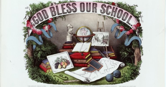 Currier-Ives-God-Bless-School