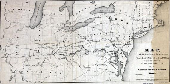 Railway route between Baltimore & St. Louis