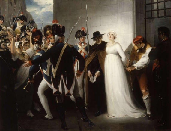 Marie Antoinette being taken to her execution