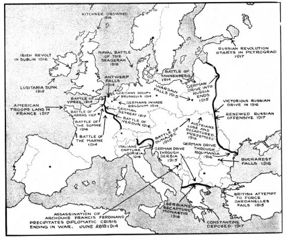 A Topographical Review of the Decisive Battles and Important Events of the European War from 1914 to 1917