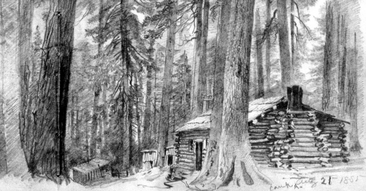 Building Of A Log Cabin In Ohio County WV