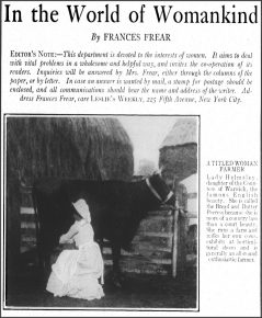 In the World of Womankind by Frances Frear