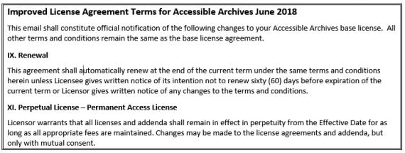License Agreement Term Improvements