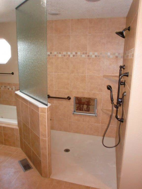 kitchen remodel dallas sink refinishing barrier free shower- accessible systems