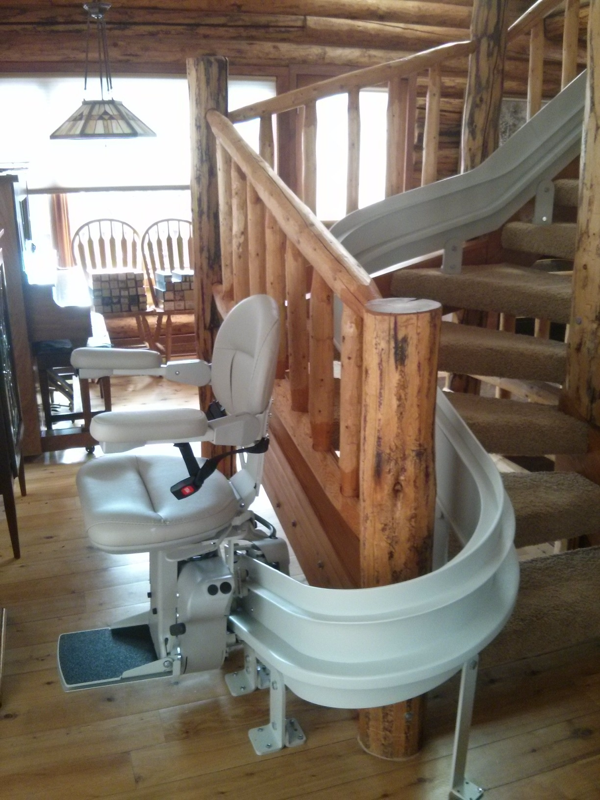 stair lift chair break room chairs bruno custom curved stairlift accessible systems