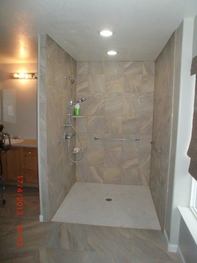 Euro Style Zero Threshold Shower Parker CO  Accessible