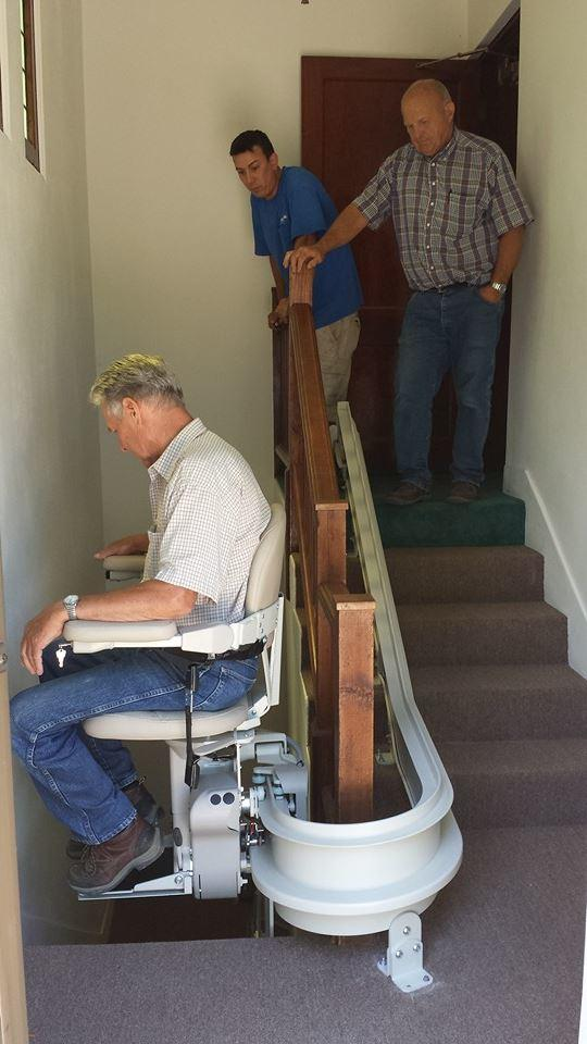 Curved Chair Lift to 2nd Floor in Fort Collins CO