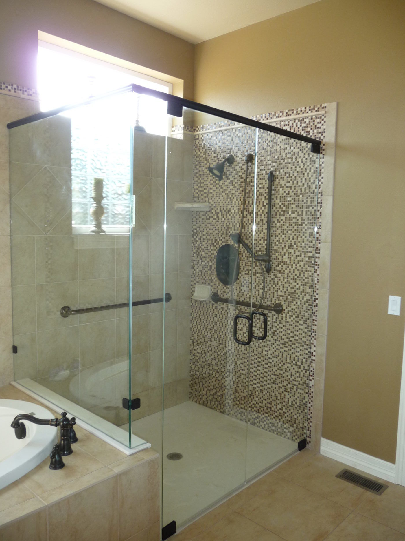 Euro Style Bathroom With Glass Doors Castle Rock CO  Accessible Systems