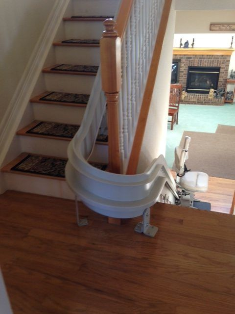 Custom Curved Stair Lift in Arvada CO  Accessible Systems