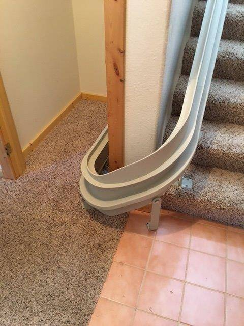 Bruno Custom Curve Stairlift  Lake City Colorado