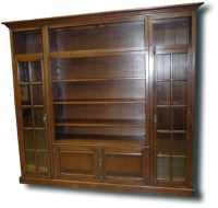 Real Wood Bookcase With Doors | Home Design Ideas