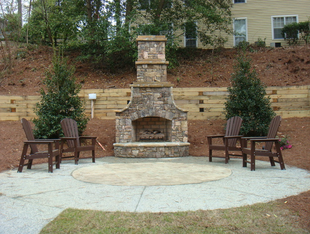 Simple Outdoor Fireplace Plans Home Design Ideas