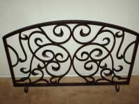 Bowed Iron Fireplace Screens For Gas Logs | Home Design Ideas