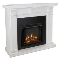 Fresno Electric Fireplace Tv Stand In White Finish | Home ...