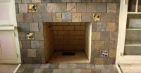 Slate Tile Fireplace Hearth | Home Design Ideas