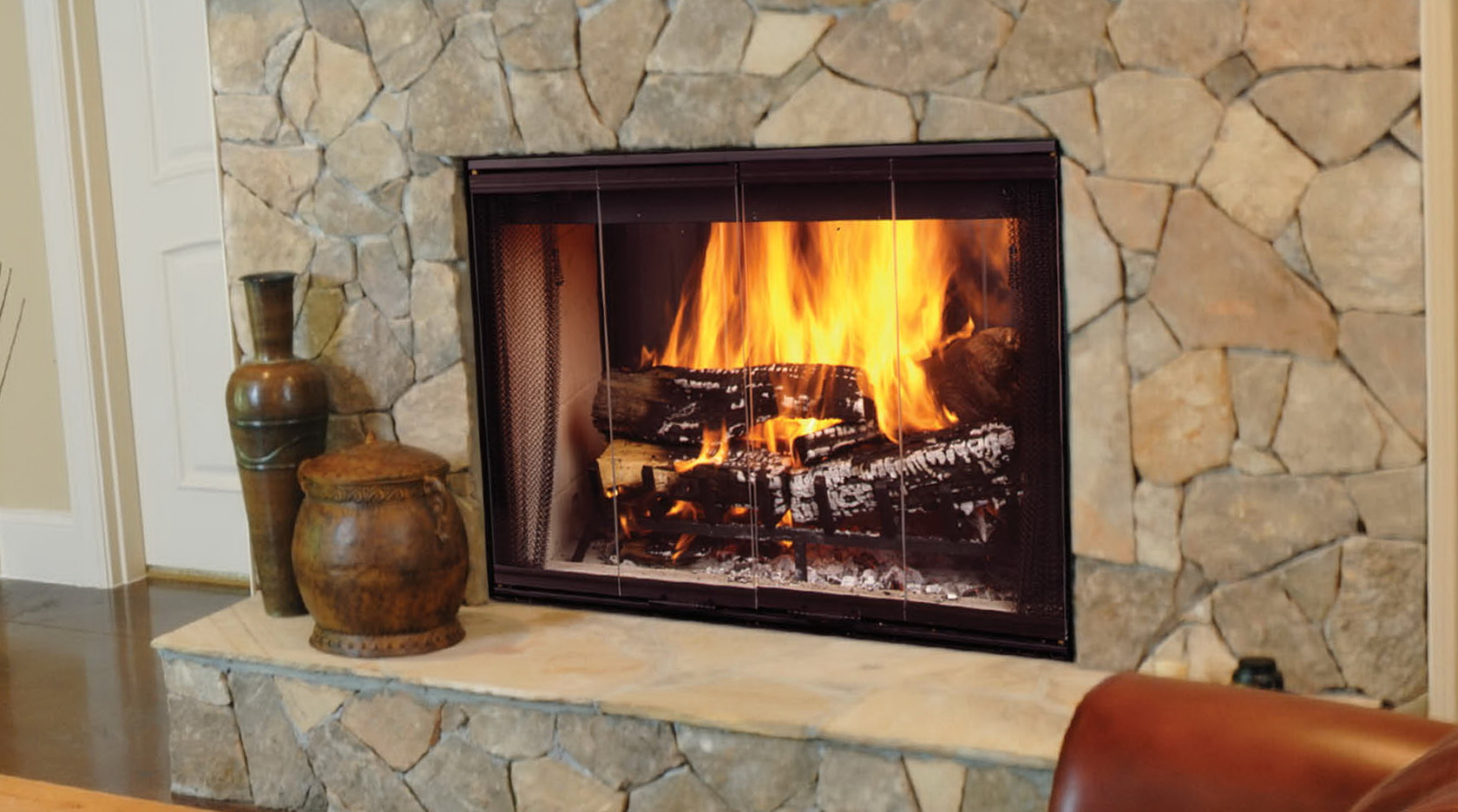 Two Way Wood Burning Fireplace