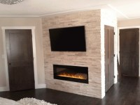 Gas Fireplace With Stone Surround | Desainrumahkeren.com