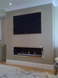 Fireplaces With Tv Mounted Above. Two Way Fireplace Ideas ...