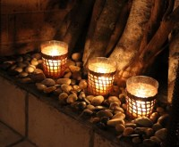Pictures Of Candles In Fireplaces   Home Design Ideas