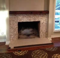 Fireplace surround stone tile