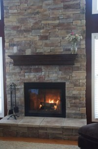 Stone Fireplace Without Mantle | Home Design Ideas