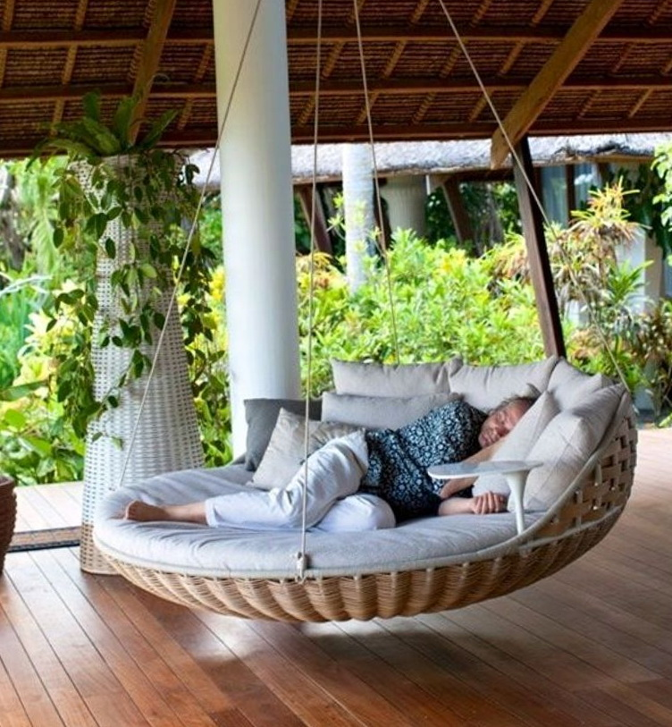 Porch Bed Swing Round  Home Design Ideas