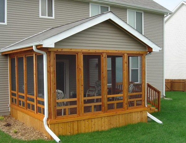 Screened Porch On Mobile Home