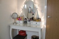 Vanity Table Set With Lighted Mirror | Home Design Ideas