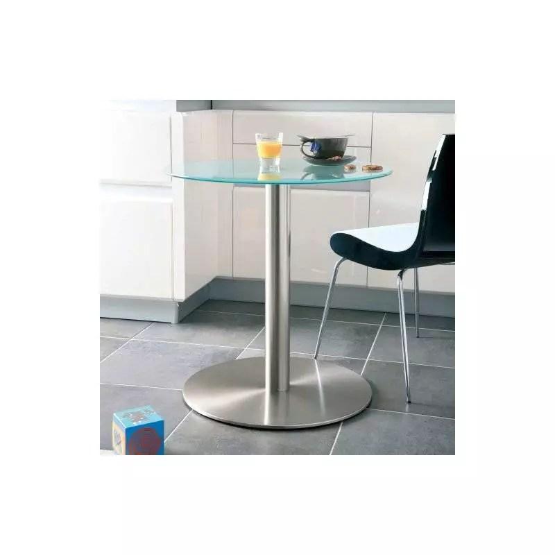 platine pour plateau en verre et pied de table central