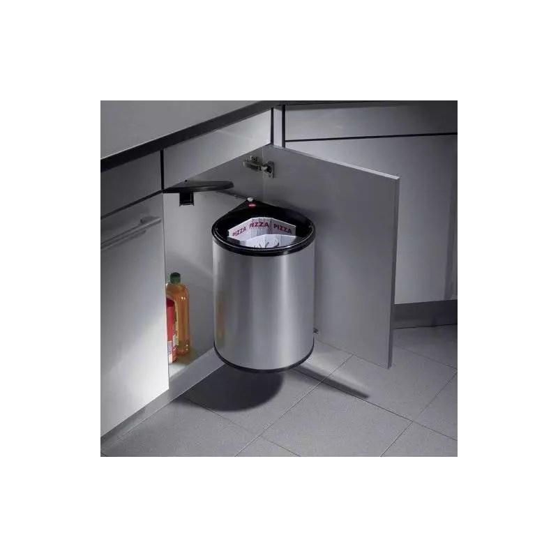 poubelle ronde de capacite 20 litres avec systeme d ouverture automatique
