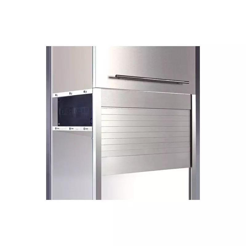 rideau coulissant en abs pour meuble haut accessoires de cuisines
