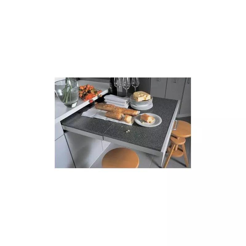 Table Plan De Travail Retractable Tiroir Accessoires De Cuisines