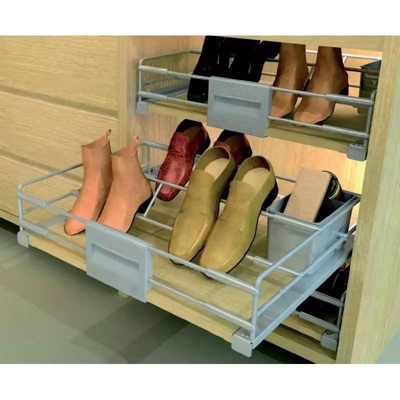 range chaussures coulissant tiroir accessoires de dressing