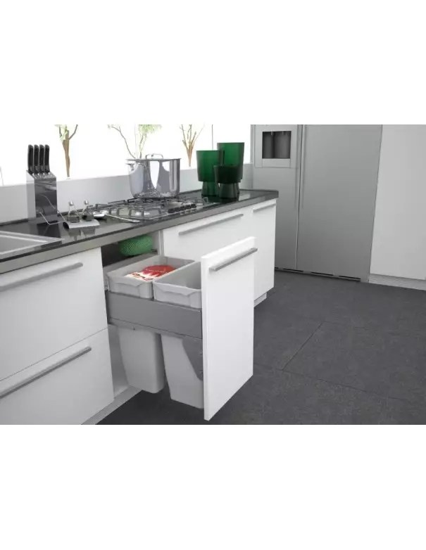 poubelle tri selectif sige pour meuble de 450 500mm