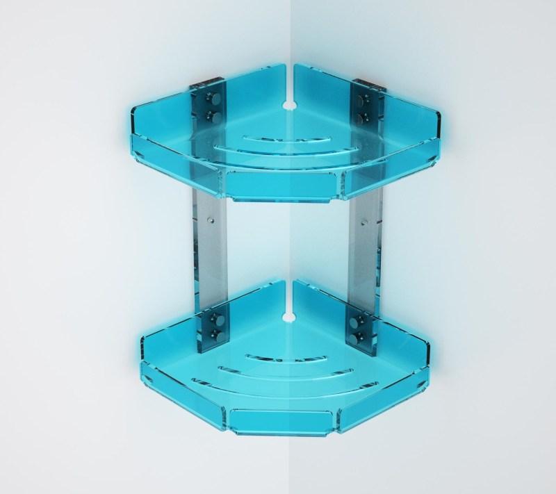 Mensola angolare in plexiglass colorato