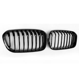 For 2016UP F20 F21 FACELIFT LCI 1-Series Liftback Front Grille Gloss Black Color